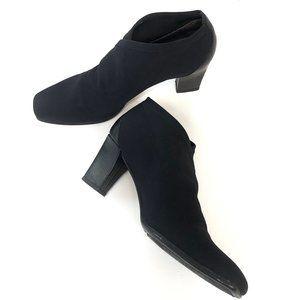 DONALD J. PLINER Black Stretch Ankle Booties #924